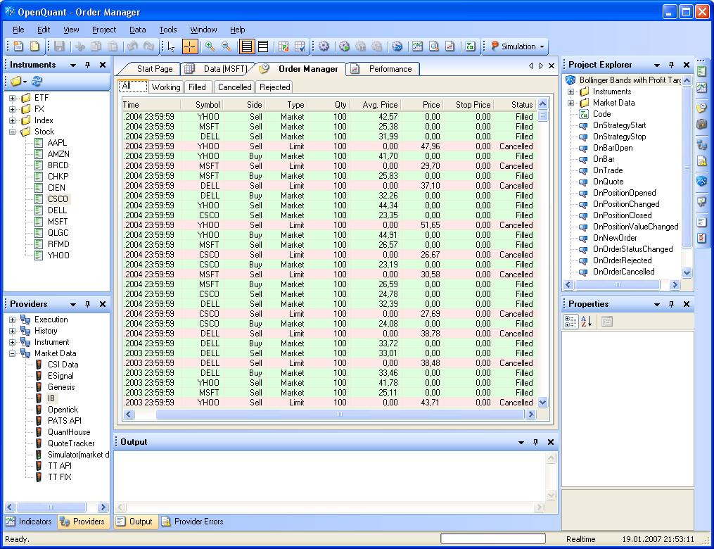Algorithmic Trading Software for Quantitative Strategies Research